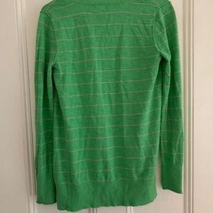 Mossimo Supply Co. Sweaters - Green and gray striped cardigan